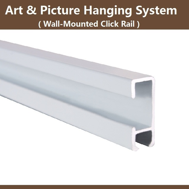 Free Shipping Picture Hanging Systems Hardware Art Display Wall Mounted Rail