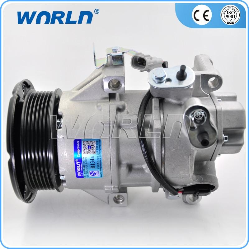 Auto Replacement Parts Auto Ac Compressor For Toyota Yaris/vitz 2005-/auris 2006-2010/altis Saloon 2006-2007/ist/vios 2007-2009 2010-2011/1.0 1.3 1.4 Clear-Cut Texture Automobiles & Motorcycles