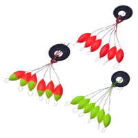 7-star sete deriva oval feijão vermelho flutuador de pesca 5 pces/packs faixas de pesca e ferramenta de pesca