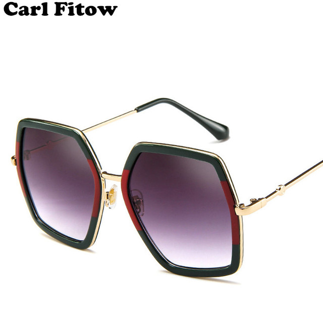 4b10e8009eb Aliexpress.com   Buy 2018 High Quality Square Sunglasses Women Brand  Designer Vintage Retro Big Frame Sunglasses Female Sun Glasses For Women  Shades from ...