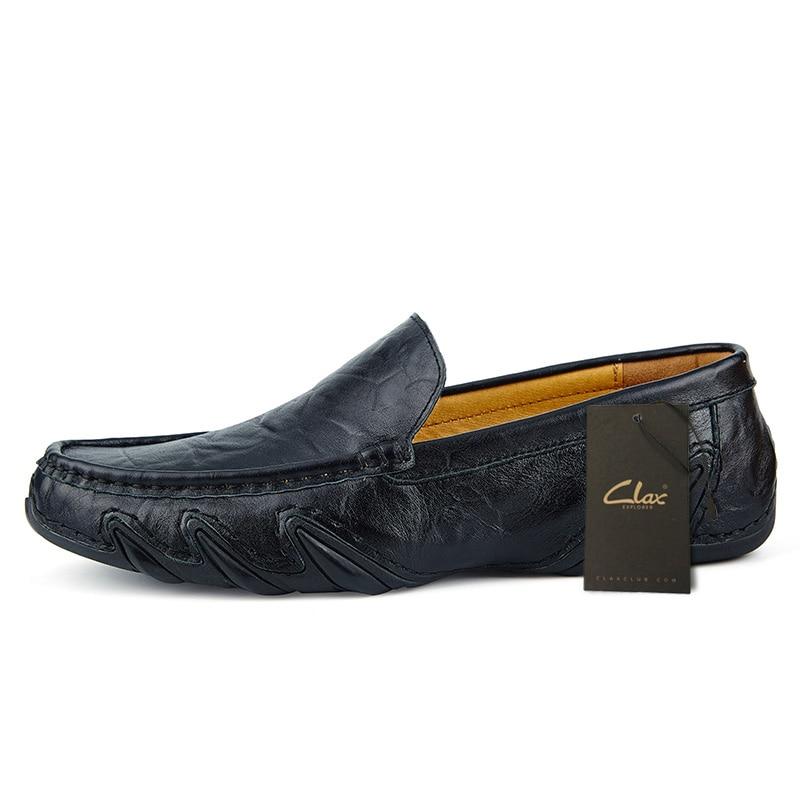 Мужские кожаные туфли clax на плоской подошве весна лето 2019