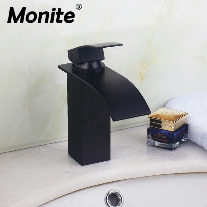 Black Bathroom Mixer Basin Faucet Deck Mounted Oil Rubbed Bronze Cold and Hot Bathrom Faucet Torneira Banheiro wall mounted oil rubbed black bronze bathroom faucet bathtub torneira basin sink faucet hot and cold mixers