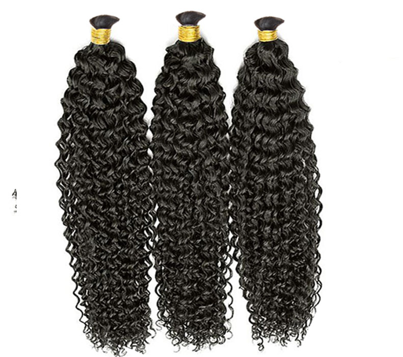 Grade 7A Brazilian Curly Bulk Braiding Hair 100 Human Hair Braids Bulk Curly No Weft Braiding Hair Curly Bulk Human Hair 3pcslot