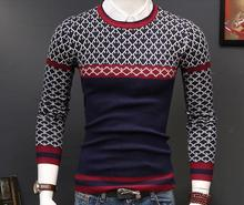 Fall fashion sweaters Men  casual Plaid turtleneck sweater color red plaid 620