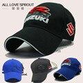 2016 SUZUKI Racing Cap Men Baseball Caps Gp Motorcycle Race Cap Embroidery Sun Visor Black Blue 4 Color Wholesale factory direct