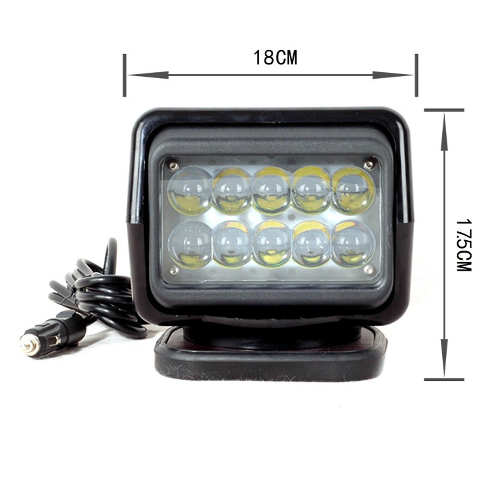 IP67 10-30V Fjärrkontroll LED Söklampa 7 tum 50W Spotlight LED - Bilbelysning - Foto 2
