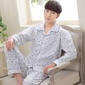 Fashion Autumn Men Pajamas Home Clothing Long Sleeve Warm Winter Pyjamas Sleepwear Male Thicken Cotton Sleep Lounge M-3XL Size
