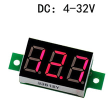 Best Selling Voltage Meter LED Display Mini 0.36 inch DC 4.5~30V Digital Voltmeter Adjustment Voltmeter Red Volt Meter new mini 0 36 inch dc 0 100v 3 bits digital red led display panel voltage meter voltmeter tester 39%off