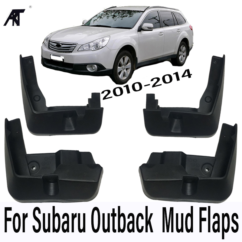 Car Mud Flaps For Subaru Outback 2010-2014 Mudflaps Splash Guards Mud Flap Mudguards Fender Front Rear Styling 2011 2012 2013 for ford explorer 2013 2018 plastic more fashion front rear mud guard mudguards splash flaps cover protector trim 4 piece