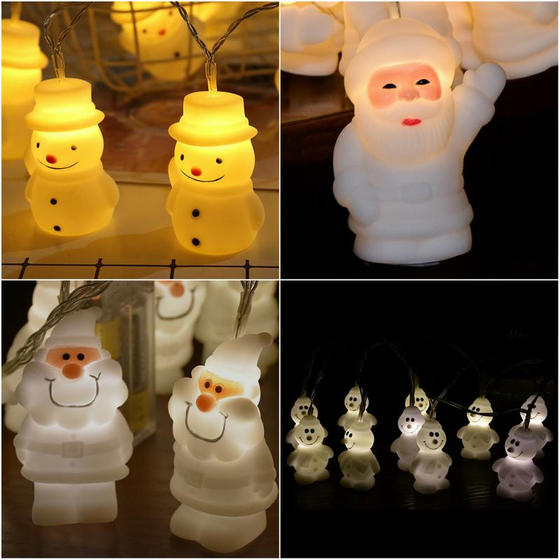 Christmas Outdoor Home Luces LED Decoration 3M 20pcs LED Fairy Waved Santa Claus Garland LED Party String Light