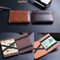 2016 fashion pu leather money clip mini new arrival High quality leather magic wallets men money clips card purse 2 colors