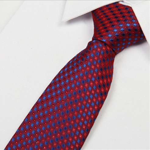 SHENNAIWEI Men Ties Red 8 Cm Blue Dot Striped 2016 New Arrival Gentlemen Neckties Fashion Casual High Quality Lote