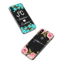 Personalized flower design iPhone case for X XS XR Max 5 5s SE 6 6s 7 8