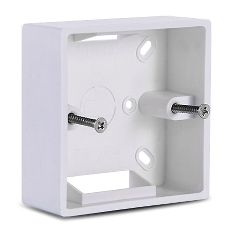 86X86 PVC Thickening Junction Box Wall Mount Cassette For Switch Socket Base Switch Bottom Box Electrical Box Accessories