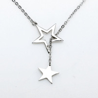 2016 Summer New Design Costume Jewelry Adjustable Genuine 925 Sterling Silver Star Pendant Necklace