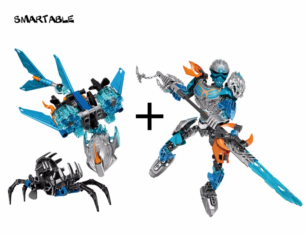 Smartable BIONICLE Akida Creature of Water+Gali Water Sea Shepherd 609-3+610-3 Building Block toys Compatible legoing BIONICLE bride of the water god v 3