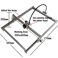50*65cm Mini CNC Laser Engraving Machine 2Axis DC 12V DIY Engraver Desktop Wood Router/Cutter/Printer+ Laser Goggles