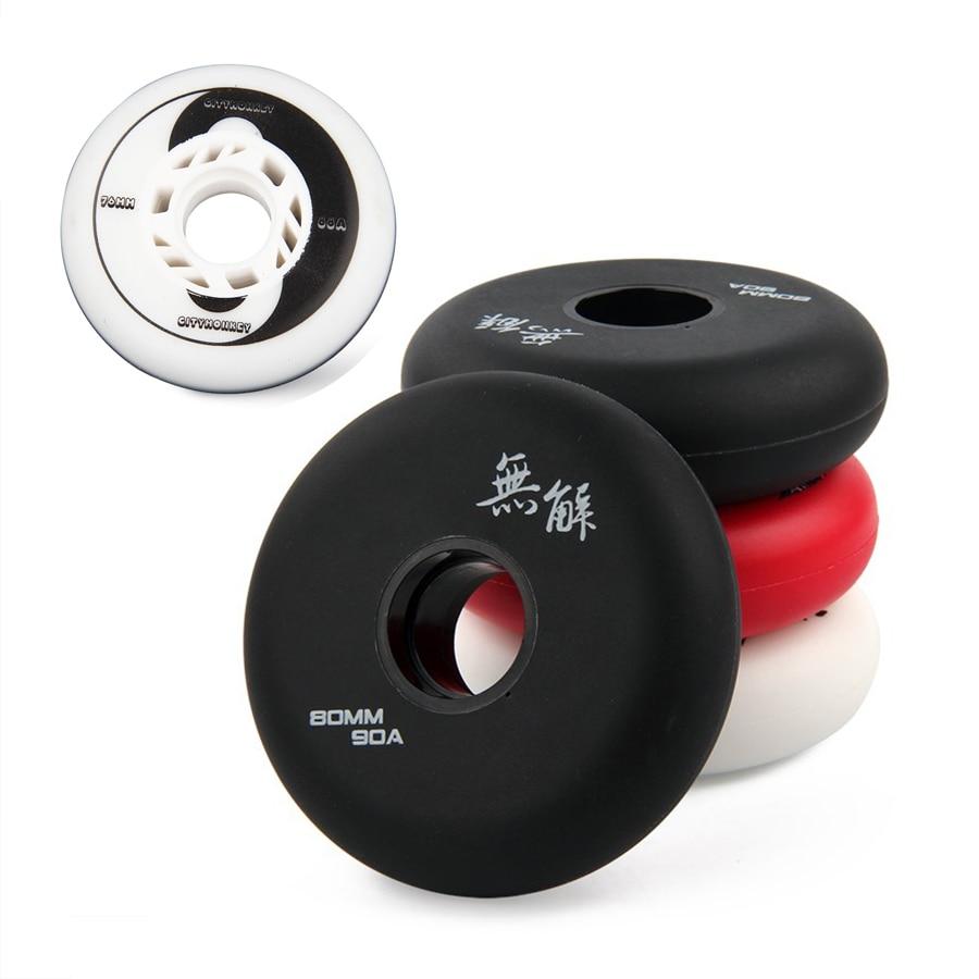 85A-90A Hardness Inline Skates Wheels 72mm 76mm 80mm Slalom Sliding Roller Skate Tires For SEBA Powerslide Free Skating Patines