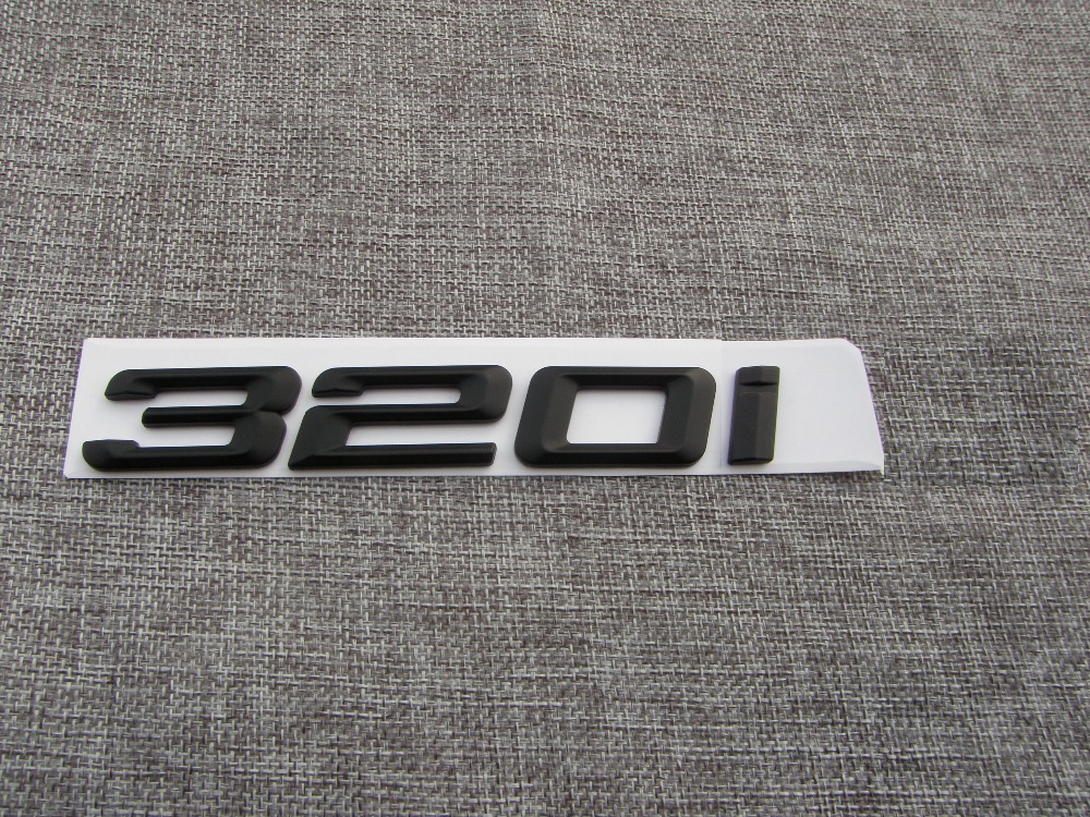 BMW E46 2D Matte Black Trunk Lid Emblem Badge Decal Letter Sticker 320Ci 320 Ci