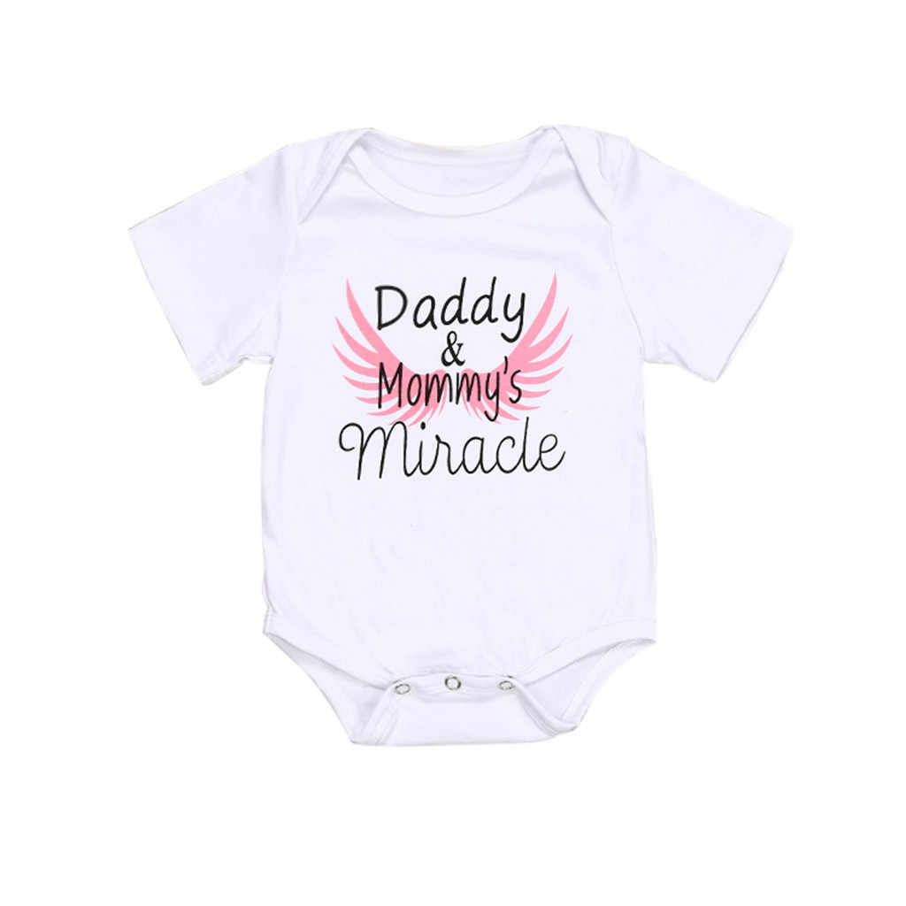 Newborn Kids  Clothes Father's Day Letter Print Romper Bodysuit 2019 Baby Girls Summer baby boy clothes  newborn clothes L410