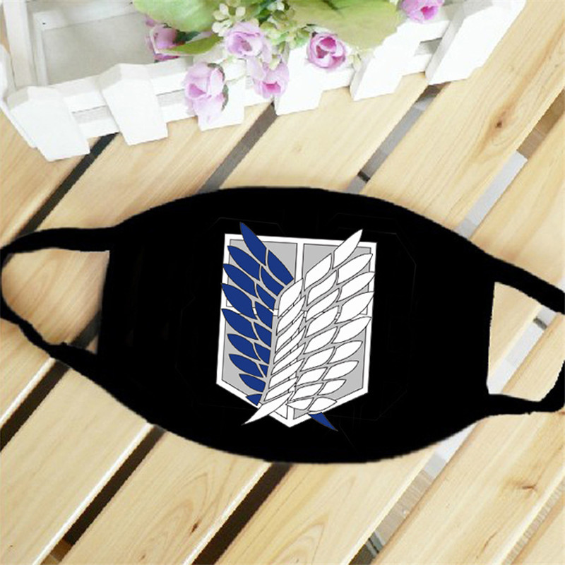 Attack On Titan Wings Of Freedom Mouth Face Mask Dustproof Breathable Women Men Cotton Riding Mask Fashion Accessories