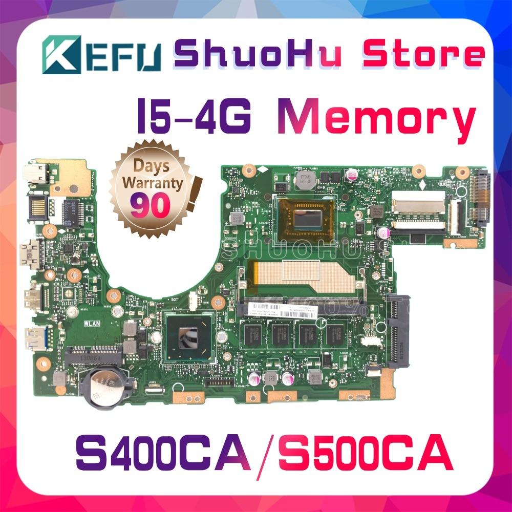 все цены на KEFU For ASUS S500CA S400CA S400C S500C CPU I5 4G Memory laptop motherboard tested 100% work original mainboard онлайн