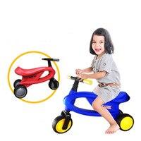 Детский самокат, Детский самокат, игрушки для верховой езды, подушка для увеличения роста, уплотненная шина, детский беспедальник, от 1 до 4 л