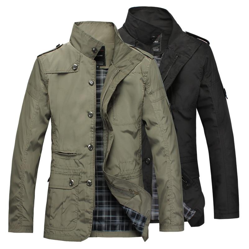 Men S Slim Jacket Trench Coat Fashion Jaqueta Casual Coats For Men