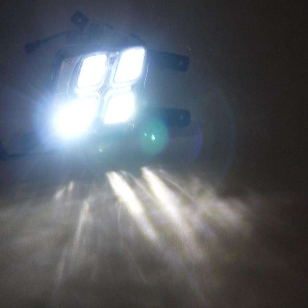 LED DRL Tagfahrlicht Nebel Lampe 12V Auto Led tagfahrlicht für Hyundai IX35 Ix 35 2010 2013 - 4