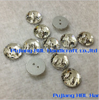 10mm 12mm 14mm Round Sew On Rhinestones Clear Color Bling Crystal Flatback Sewing Buttons With Two
