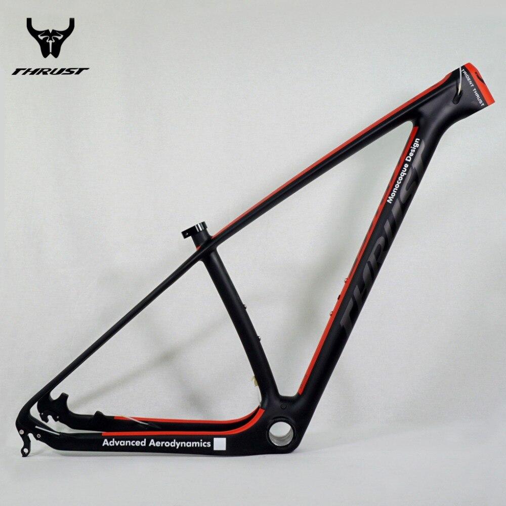 Vélo De Montagne De Carbone 29er POUSSÉE Chinois Carbone vtt Cadre De la Bicyclette T1000 Cadre en Fiber de Carbone De Vélo 29er cadre en carbone 27.5er