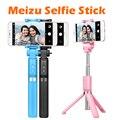 Original meizu stan selfie stick pata del trípode se puede dar la vuelta del obturador bluetooth para iphone ios 5.0 + android 4.3 +