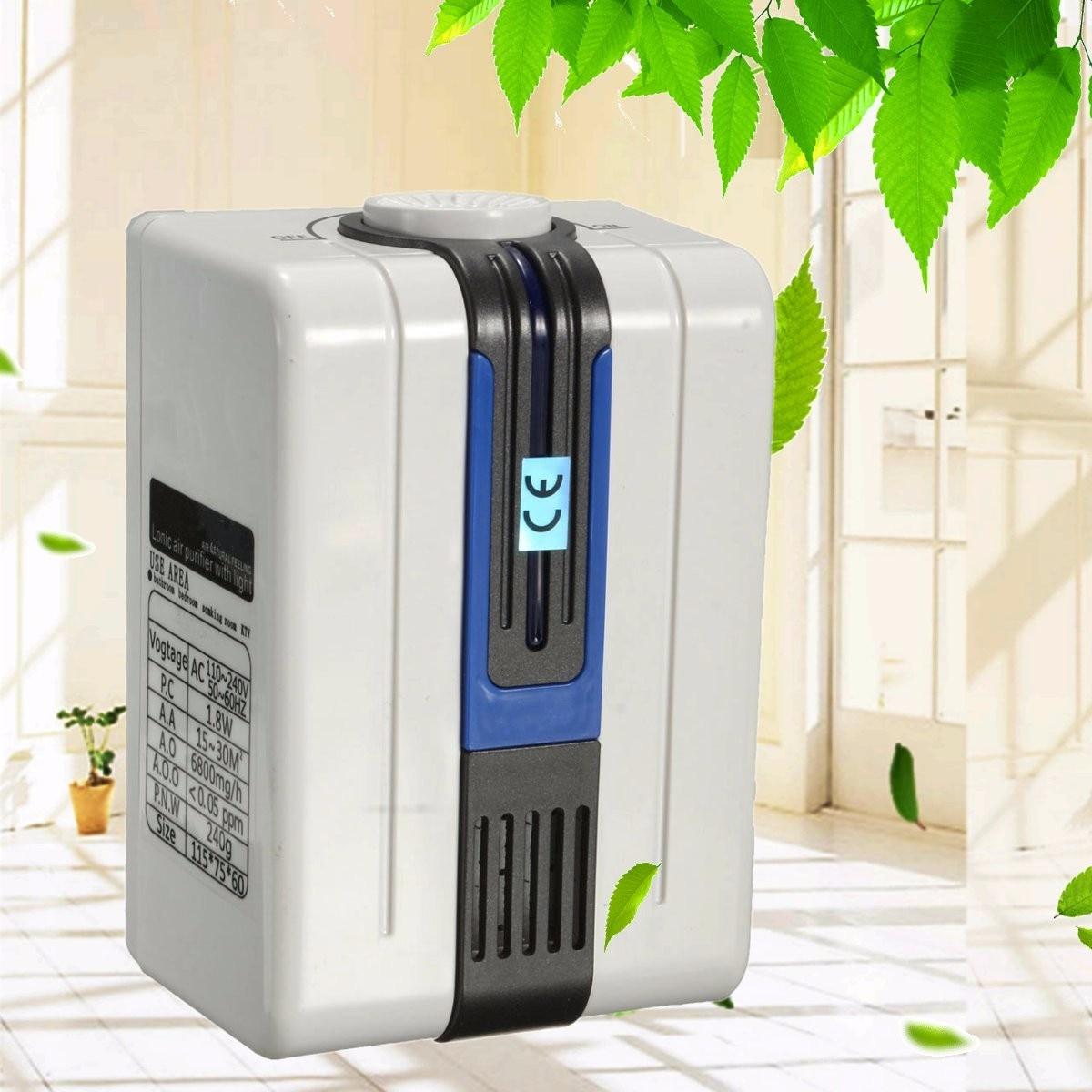 все цены на 1.8W Air Purifier for Home Negative Anion Ionizer Air Purifier Remove Formaldehyde Smoke Dust Purification pm2.5 115x75x60mm онлайн