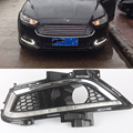 Car styling For Ford Mondeo Fusion 2013 2014 2015 2016 LED DRL Daytime Running Lights LED Daylight Fog light waterproof