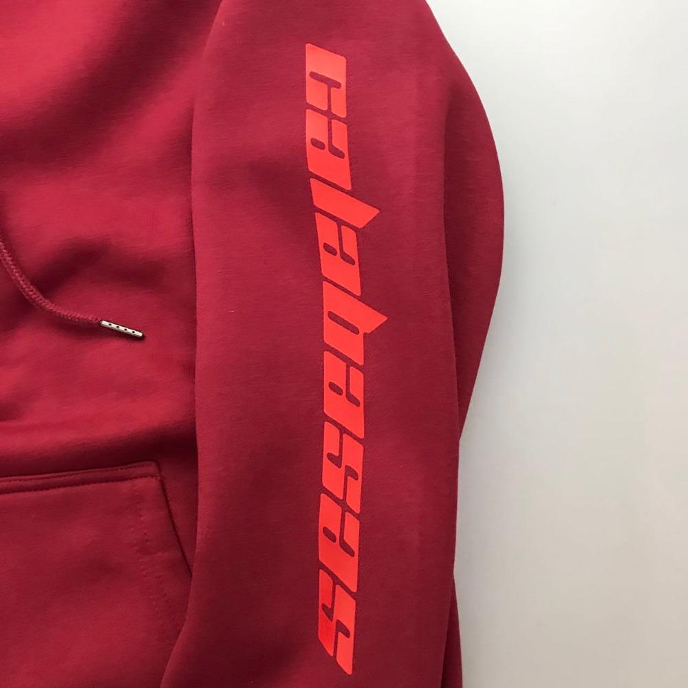 Image 5 - High quality Feece Season 4 Calabasas KANYE WEST hoody Pullover Hoodie oversize Men Women Brand Clothing Long sleeve Sweatshirt-in Hoodies & Sweatshirts from Men's Clothing