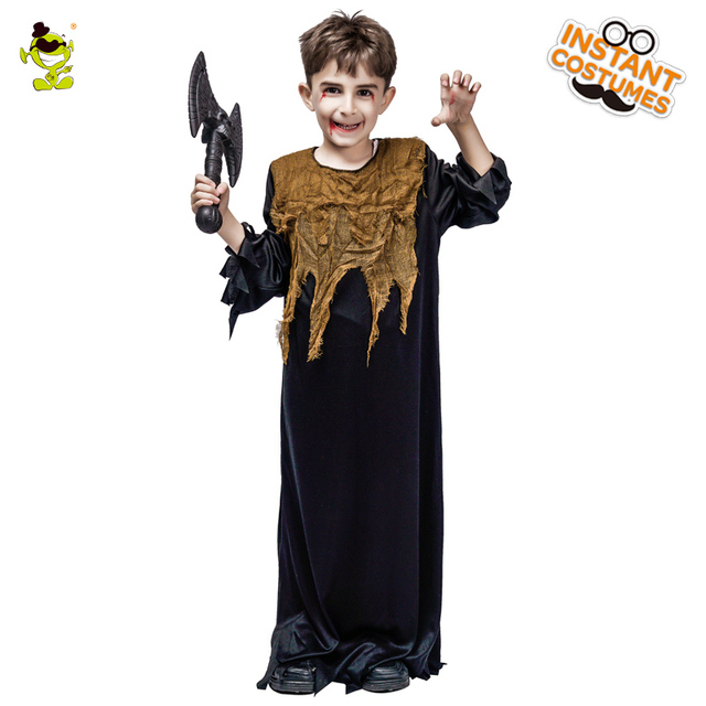 New Kids Horror Halloween Costumes With Robe Gauze Evils Zombie Cosplay  Clothing Fancy Dress For Boys