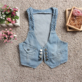New Arrival Buttons Women Denim Vest Small Sleeveless Jacket Fashion Denim Waistcoat A768