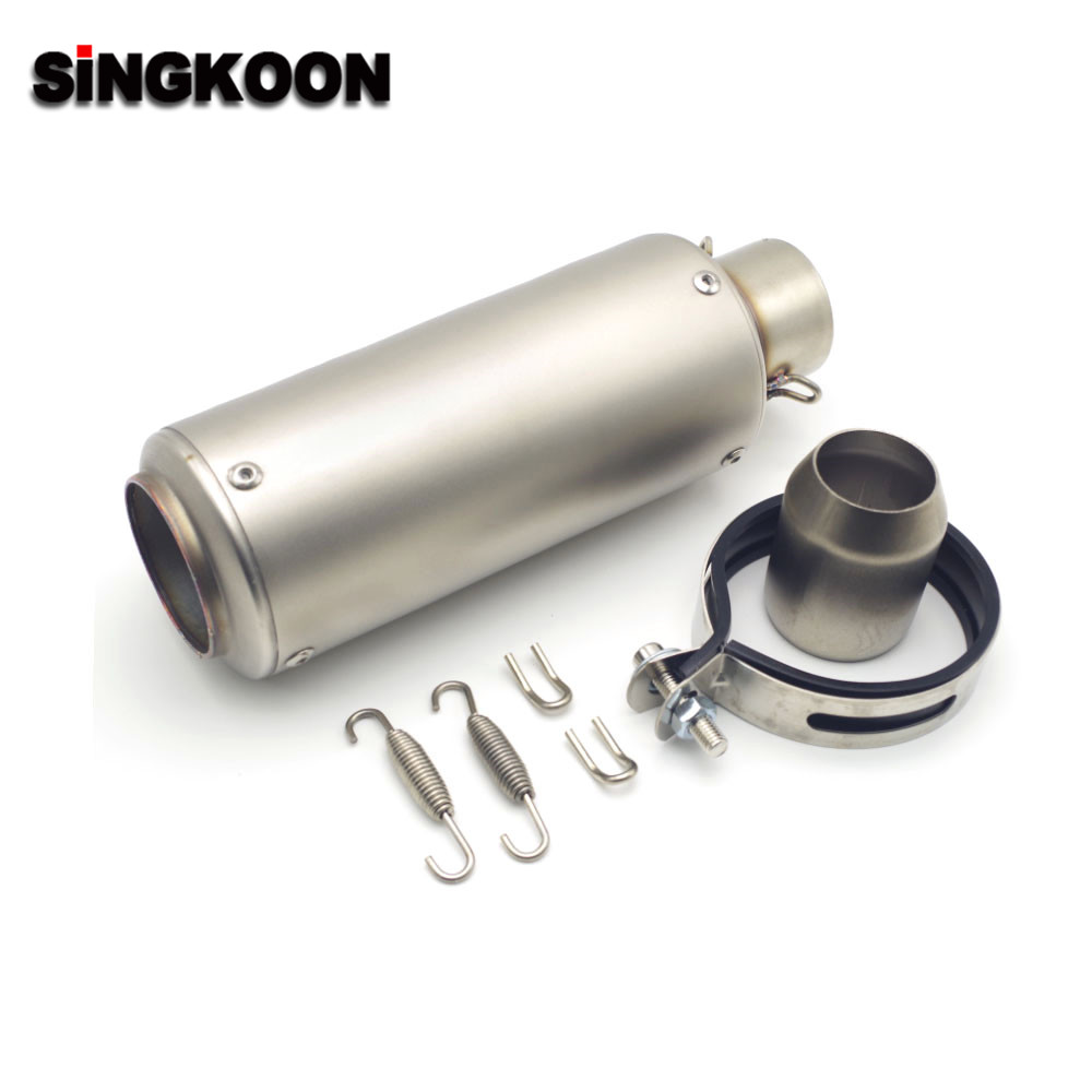 51/61mm Universal Motorcycle <font><b>Exhaust</b></font> Escape Muffler Pipe Carbon Fiber FOR bmw <font><b>s1000xr</b></font> bmw s1000r bmw s1000rr Yamaha fz6 fz8 image