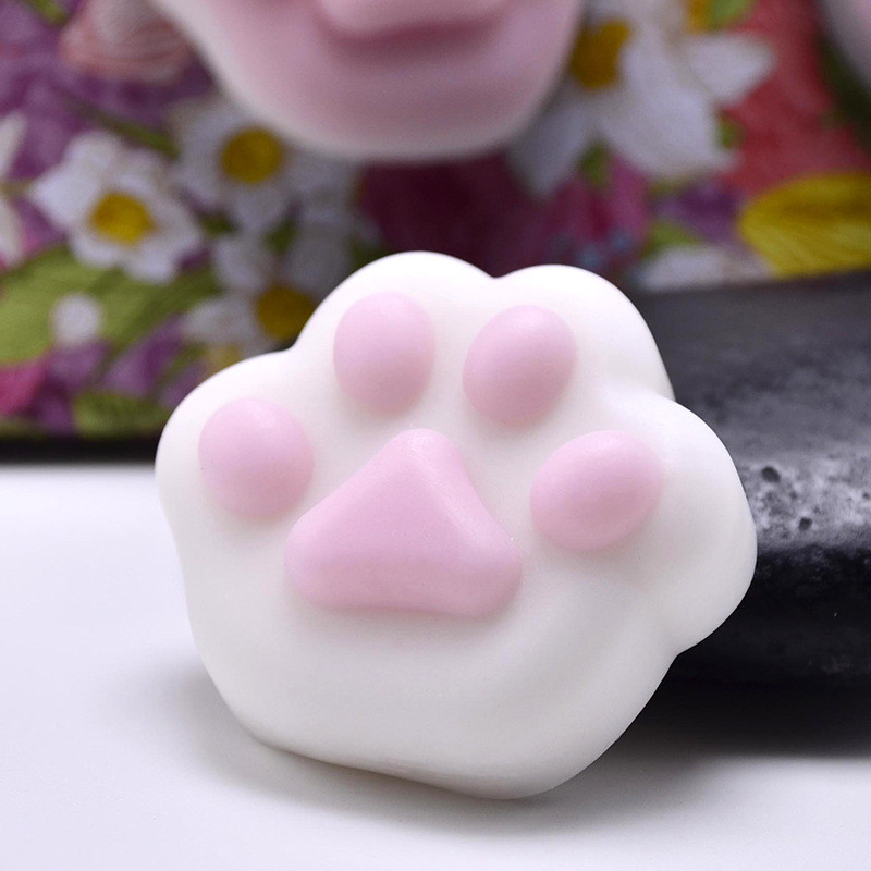 Cat Paw Squeeze Toy Cute Healing Kawaii Collection Stress Reliever Gift Decor Funny Novelty Children Toys