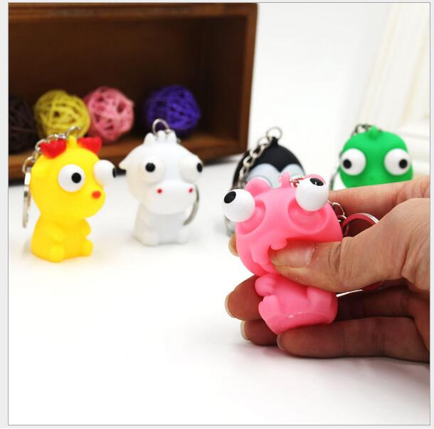 2pcs/lot Cute Venting squeeze small toys decompression toys crowded dolls eye drops Stress Relieve Toy