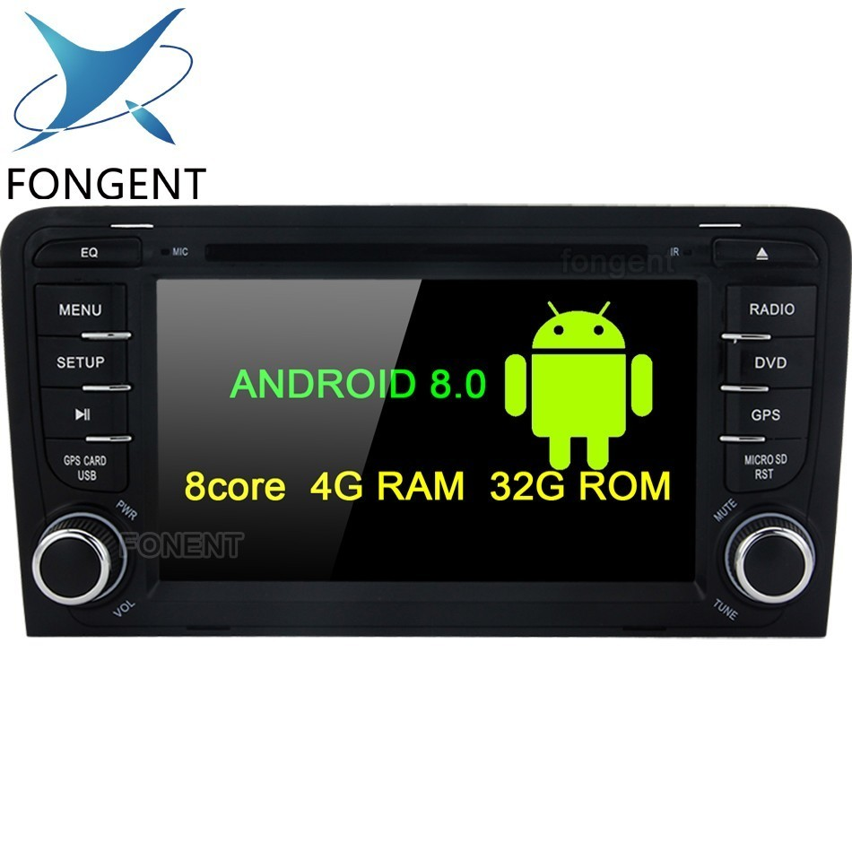 IPS DSP 4G android 9.0/7.1 CAR DVD GPS For Audi A3 2003 2011 player radio stereo Audio auto multimedia screen GPS Glonass Navi