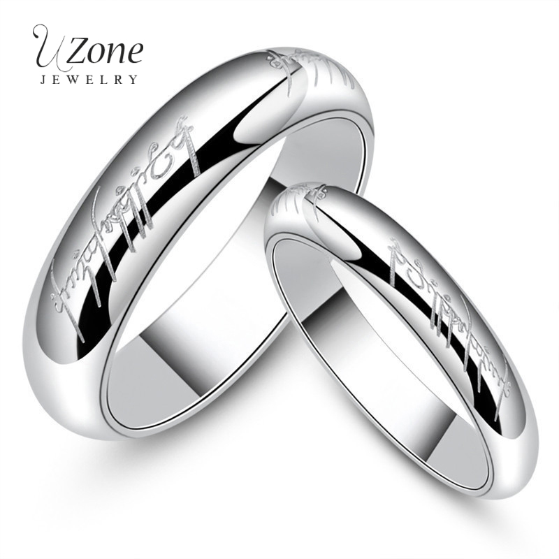 Uzone Stainless Steel Silver Hobbits Rings Lord Of One Ring Movie