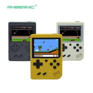 Image 2 - 어린이 레트로 미니 휴대용 휴대용 게임 콘솔 플레이어 3.0 인치 블랙 8 비트 클래식 비디오 휴대용 게임 콘솔 RETRO FC 07