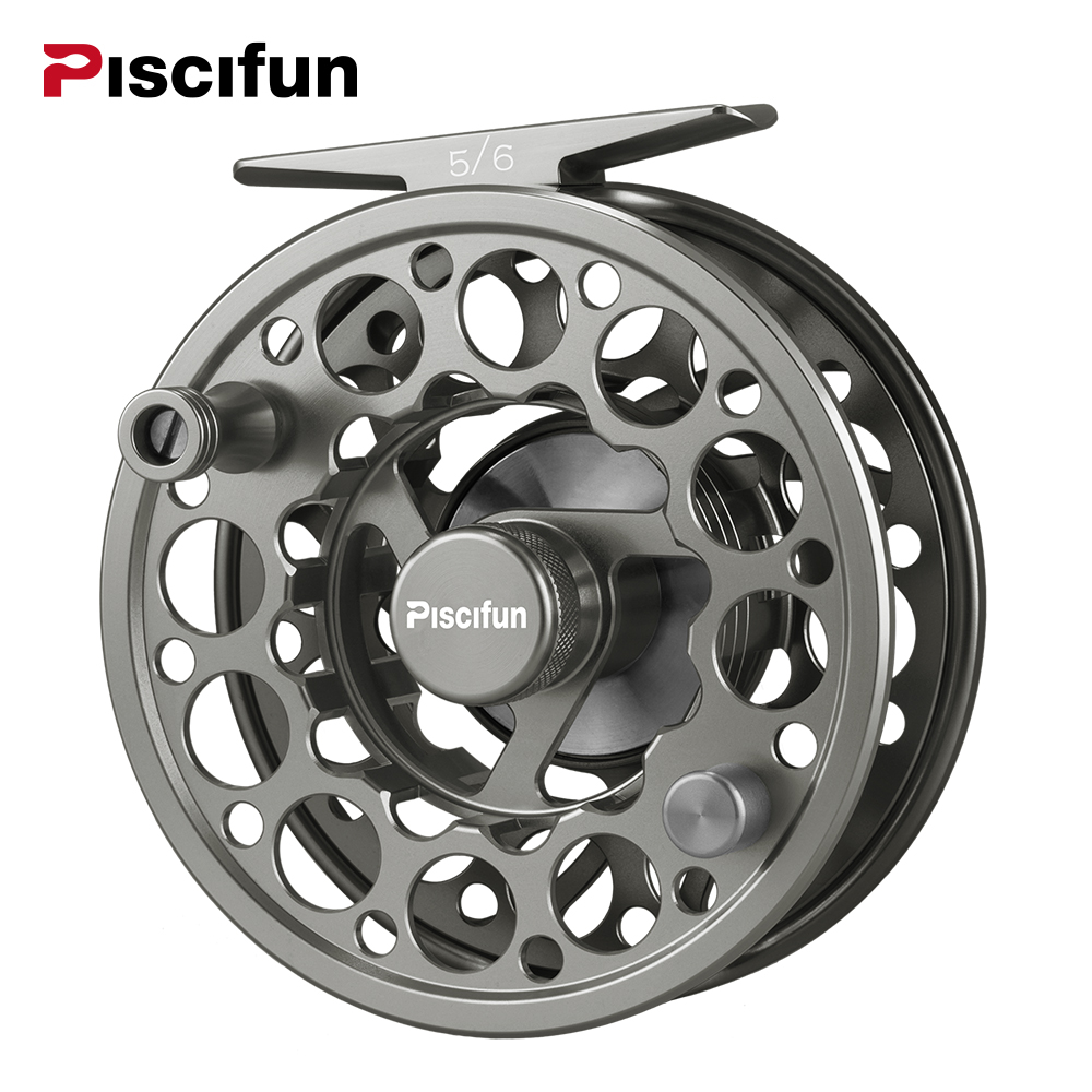 Piscifun Space Grey Sword Fly Reel CNC-machined Aluminium Material 3/4/5/6/7/8/9/10 WT Right Left Handed Fly Fishing Reel 7 8 left