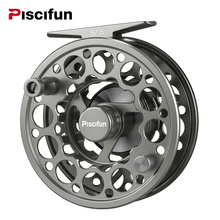 ФОТО piscifun space grey sword fly reel cnc-machined aluminium material 3/4/5/6/7/8/9/10 wt right left handed fly fishing reel