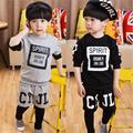 New Design Boy Clothing Cotton Kids Clothes Long Sleeve Children Clothing Set Thicken Suit Set Baby Autumn Roupas Infantis F58
