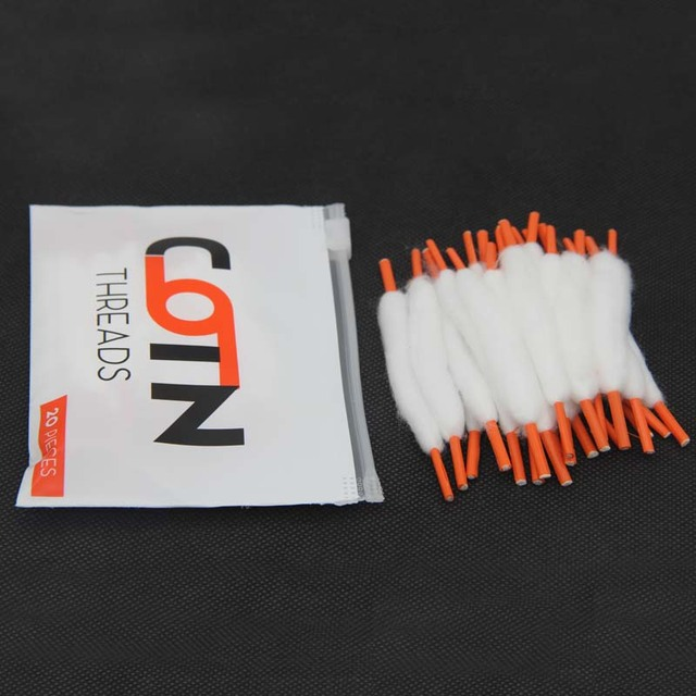 10 กระเป๋า Vape Cotton สำหรับอิเล็กทรอนิกส์บุหรี่ 20 แถบ/กระเป๋าโหลดผ้าฝ้ายสำหรับ Ecigarette rebuildable RDA RBA DIY atomizer VAPE