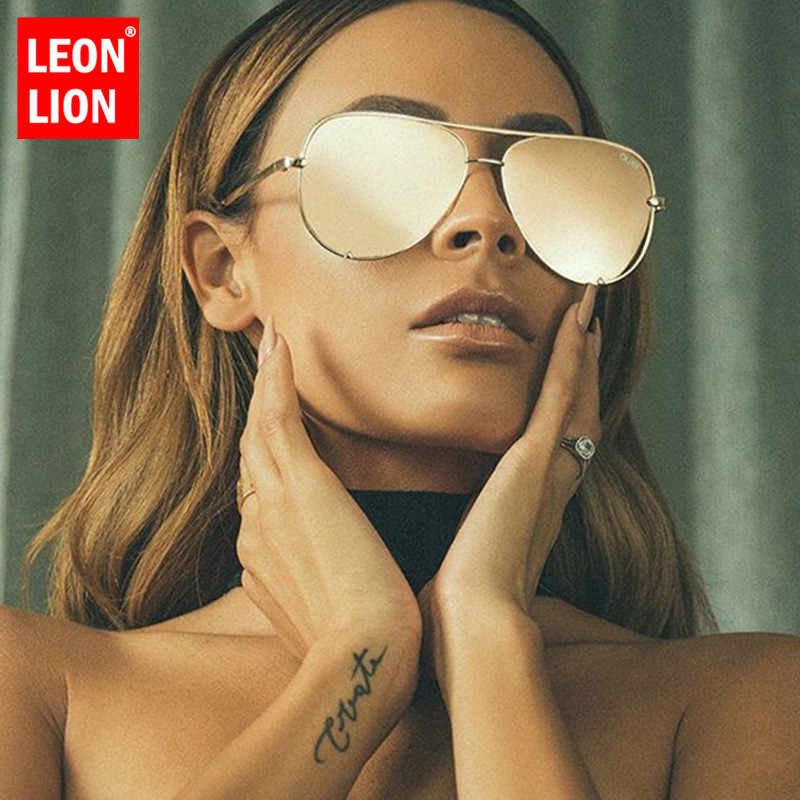 LeonLion 2019 Luxury Vintage Pilot Sunglasses Women/Men Travel Metal Retro Eyeglasses For Women Classic Gafas De Sol Mujer UV400