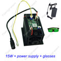 Focusable 15 W Laser Hoofd DIY Lazer Diode Module snijden graveren cnc machine 450nm 15000 mw 15 w TTL