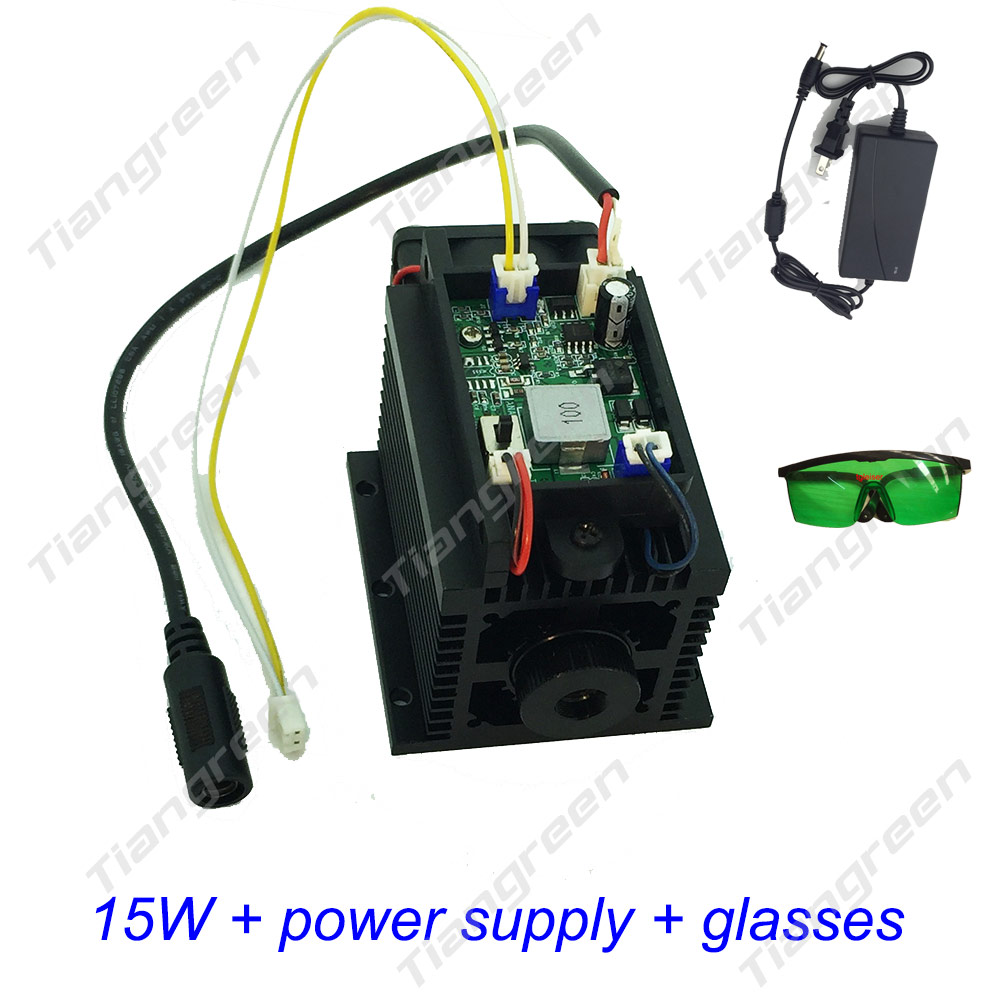 Image 3 - High Power 15w Laser Diode Module Lazer Head diy cutter engraver cnc machine for metal wood 450nm 15000mw 15 w TTL-in Stage Lighting Effect from Lights & Lighting